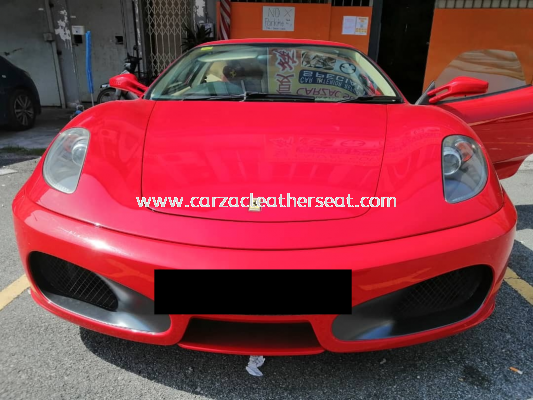 FERRARI 2 SEATERS SEAT REPLACE NAPPA LEATHER WITH LOGO