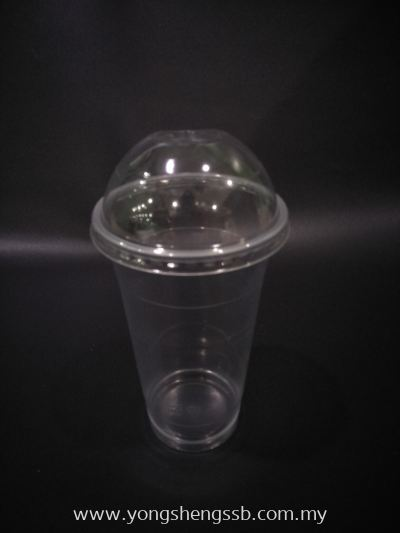 PP700Y 22oz DOME (100PCS/10PKT/CTN WITH LID)