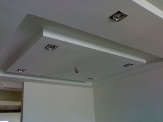 Layers Style Plaster Ceiling + Downlight