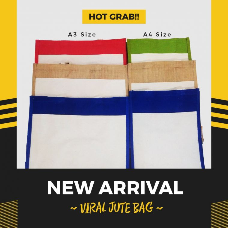HOT GRAB!!! VIRAL Jute Bag.. GRAB NOW!!