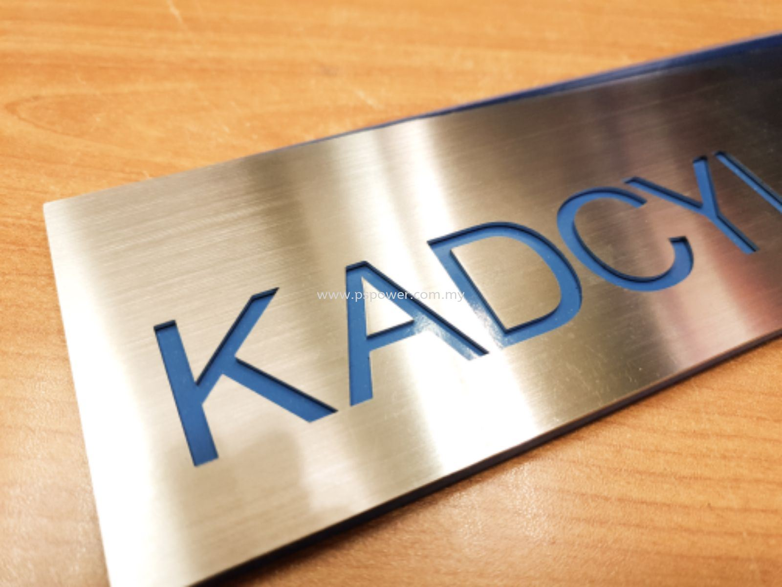 Laser Cut on Stainless Steel Signage