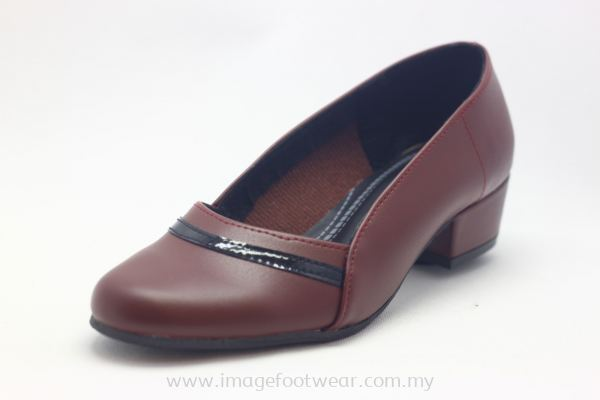 Women 1 inch Heel Shoes- TF-1273 MAROON Colour