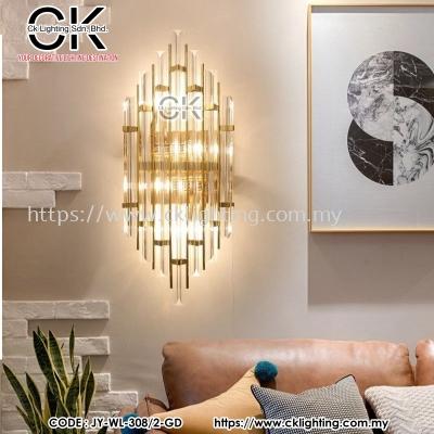 CK LIGHTING WALL LAMP MODERN 6 LINE GOLD GLASS (JY-WL-308/2-GD)