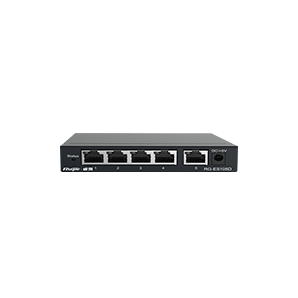 RG-ES105D. Ruijie 5-Port 10/100Mbps Unmanaged Metal Switch. #AIASIA Connect