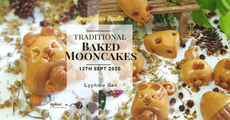 Chipmunk Baked Mooncakes