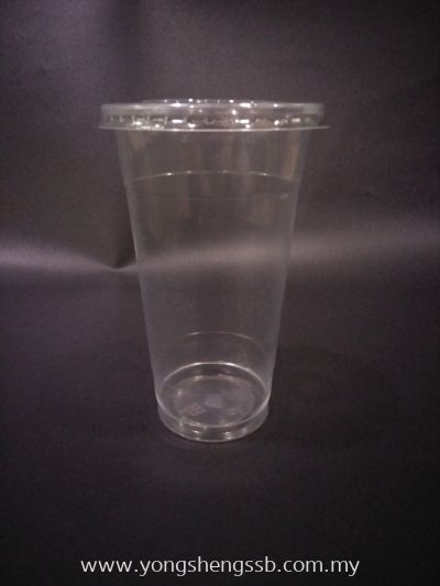 PP700Y 22oz FLAT (100PCS/10PKT/CTN WITH LID)