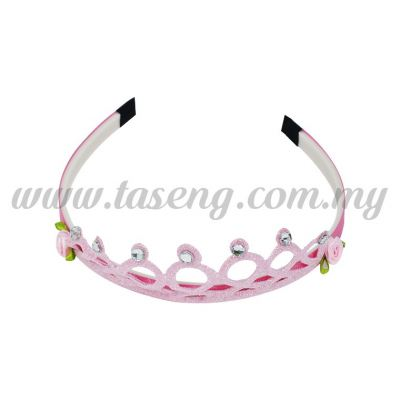 Hairband 7 ROUND CROWN *BABY PINK (DU-HB7-BP)
