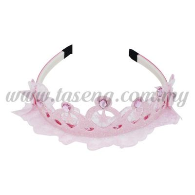 Hairband 5 LACE STAR CROWN *BABY PINK (DU-HB5-BP)