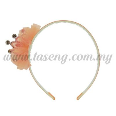 Hairband 2 LITTLE CROWN *PEACH (DU-HB2-PE)