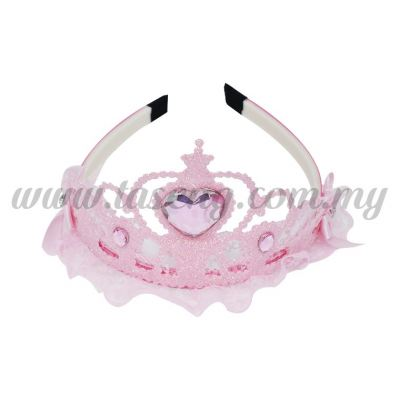 Hairband 3 LACE CROWN *BABY PINK (DU-HB3-BP)