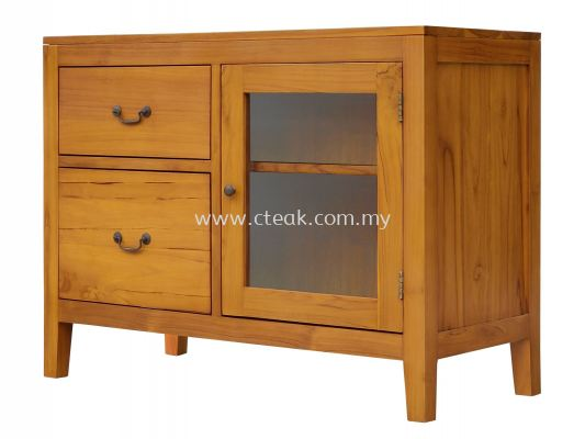 Chest of 2 Drawers With Glass Door