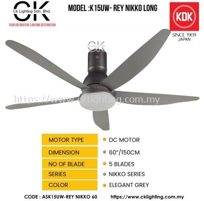 """CK LIGHTING KDK CEILING FAN MODEL K15UW LONG (ASK15UW-REY-NIKKO-60"""")"""