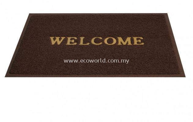 Standard Coil Mat With  Welcome-Brown