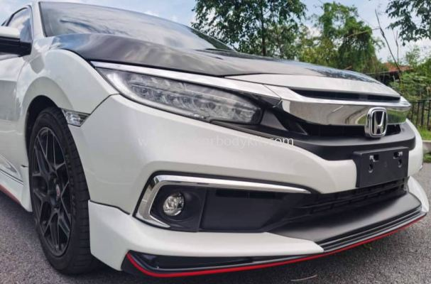 HONDA CIVIC 2020 AMZ BODYKIT + RS DESIGN SPOILER