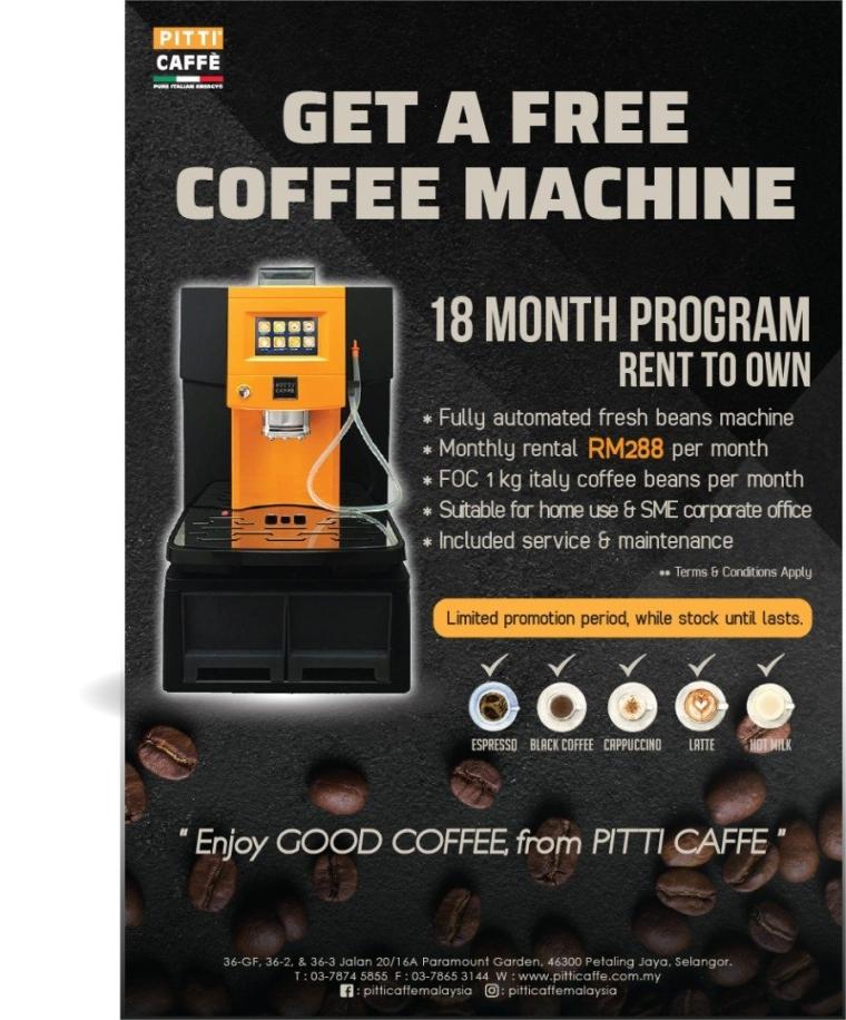 Coffee Machine Rental- 18 month Rent to Own Program