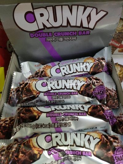 LOTTE CRUNKY DOUBLE CRUNCH BAR 36G *10 BC8801062640799