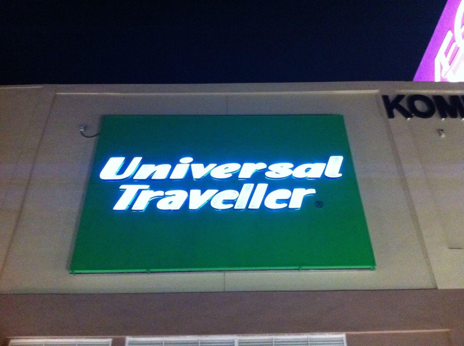 Aeon Mall (Universal Traveller) Billboard 3d LED frontlit Signboard