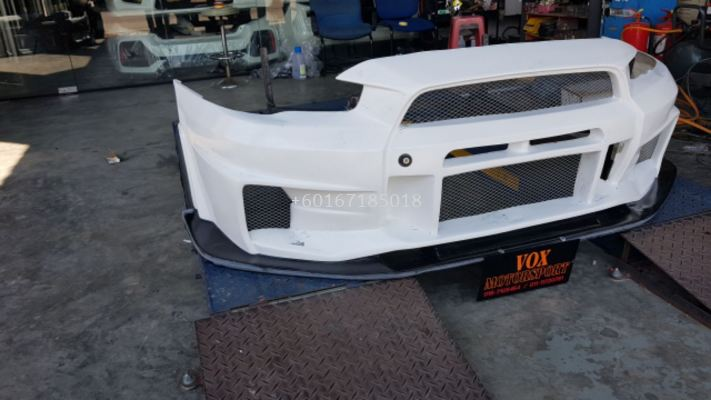 2008 2009 2010 2011 2012 2013 2014 2015 2016 2017 mitsubishi lancer gt front bumper varis v3 style for lancer gt replace upgrade performance look frp material brand new set