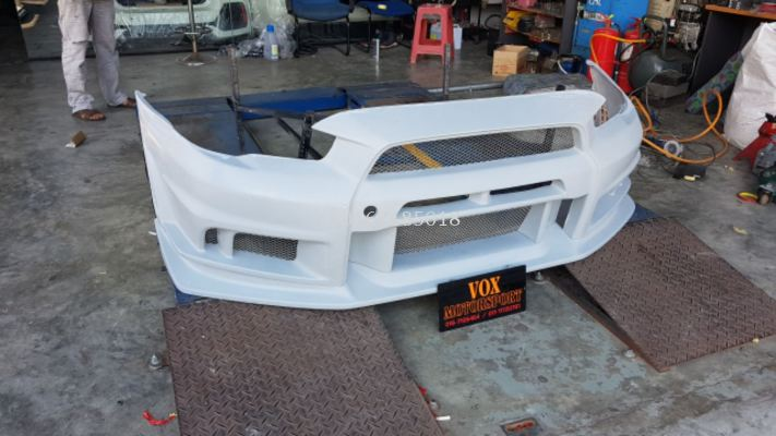 mitsubishi lancer evo x front bumper varis v2 style for lancer evo x replace upgrade performance look frp material brand new set