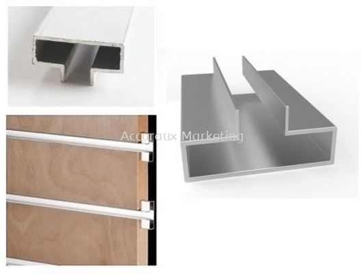 Aluminium Slatwall Support Channel, NA