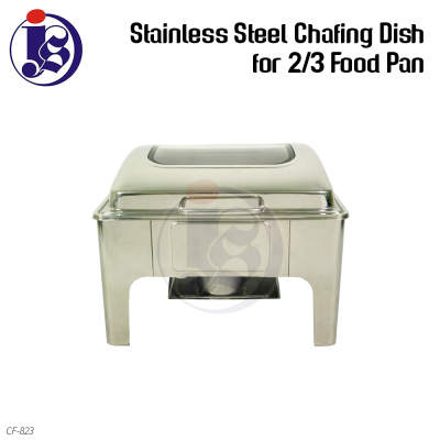 Stainless Steel Chafing Dish (2/3 Food Pan)