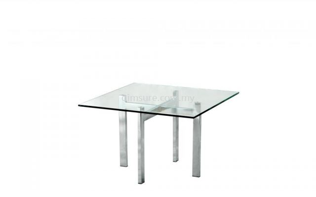 Tempered glass square coffee table AIM7700-6T