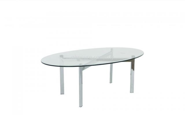 Tempered glass coffee table oval shape AIM7700-5T