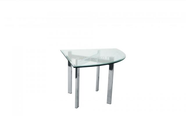 Tempered glass quarter side coffee table AIM7700-8T