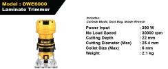 Dewalt Laminate Trimmer - DWE6000 DEWALT Power Tools