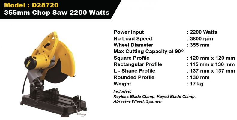 Dewalt 355MM Chop Saw 2200W - D28720