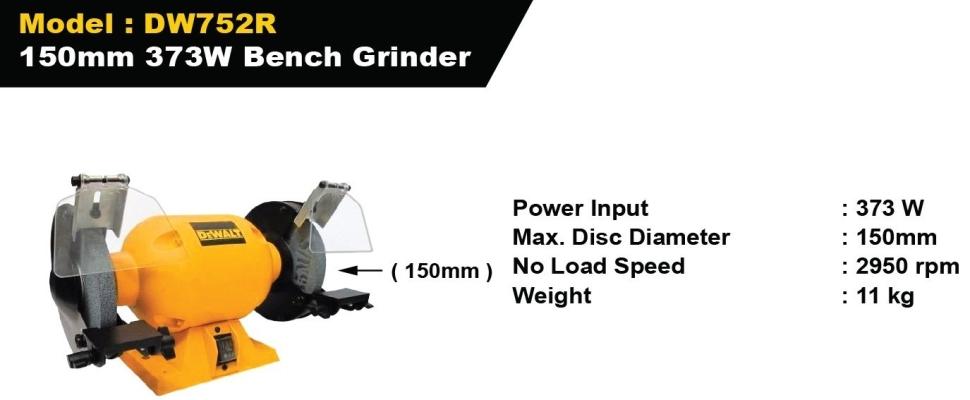 Dewalt 150MM 373W Bench Grinder - DW752R