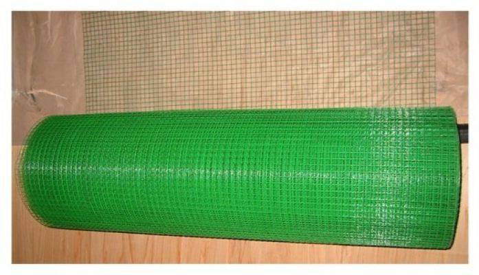 Green Pvc Coated Wire Mesh ( 1/2'' x 1/2'' x 3' x 50Ft +- )