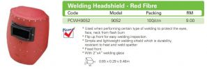 9052 Welding Headshield - Red Fibre Face Shield Equipment HEAD PROTECTION