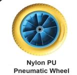 Nylon PU Pneumatic Wheel