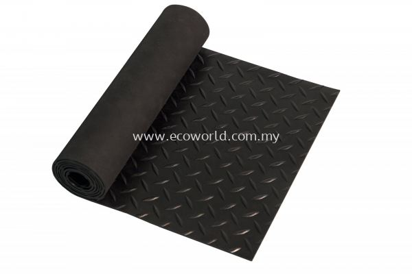 Diamond Plate Rubber Roll Mat