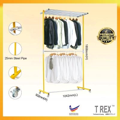 [PREMIUM QUALITY] T Rex GIGI 4+1 Double Layers Clothes Hanger Rack