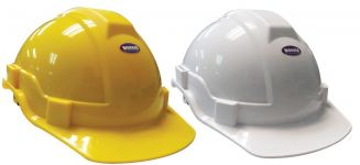 Normal Safety Helmet ( White / Yellow )