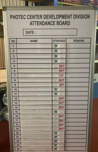 IN- OUT ATTENDANCE BOARD