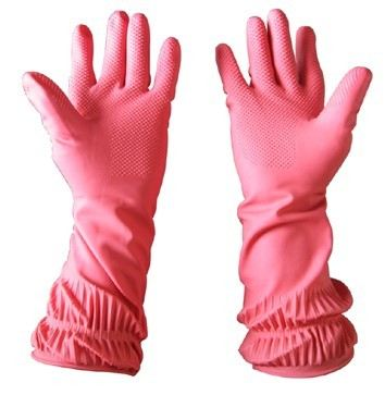 Pink Colour Rubber Gloves