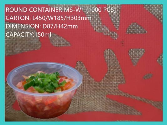 MS-W1 BASE ONLY SMALL ROUND CONTAINER (1000 PCS)
