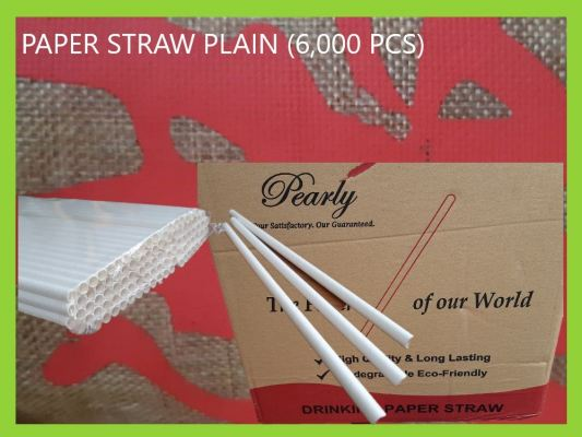 PAPER STRAW PLAIN (6,000 PCS)