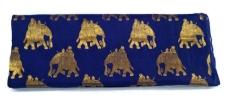 Dark Blue and Golden Two Tone Pure Banarasi Silk Fabric Blouse Material Dresses