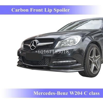 mercedes benz w204 facelift c class front lip diffuser cmst style carbon fiber material new set