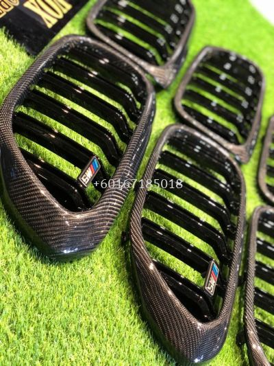 bmw g30 5 series front grille replacement carbon fiber material new set