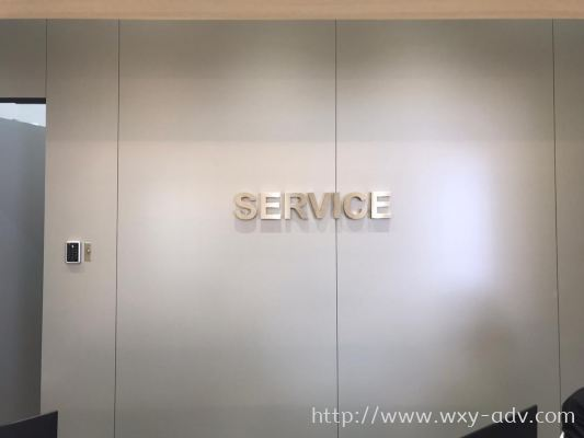 SERVICE Stainless Steel Box Up Signboard