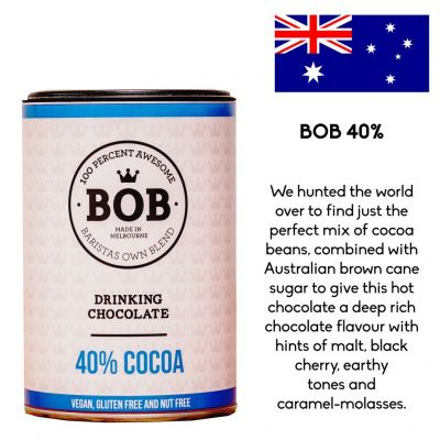 Fraus BOB 40% Cocoa Drinking Chocolate 250g (Imported from Australia)