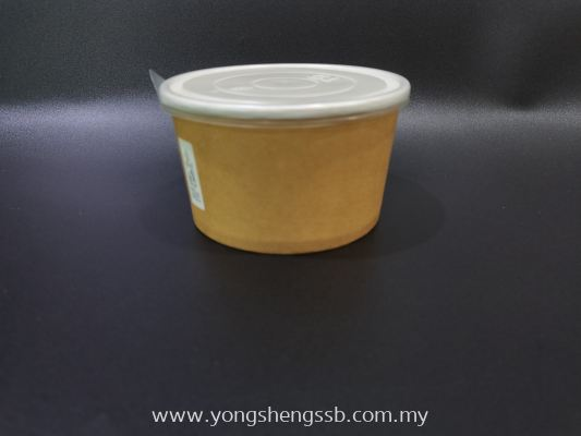 GL PAPER BOWL 600PCS/CTN (650cc) WITH LID