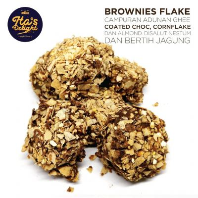 Kuih Raya Ita Delight Brownie Flakes Cookies