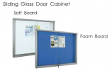 Sliding Glass Door Cabinet Notice Board White Board