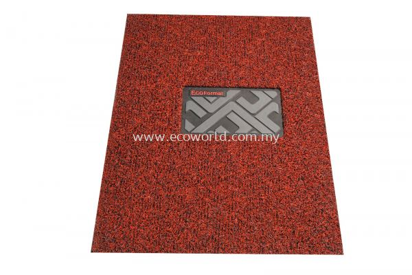 ECOFormat Car Mat - Driver Mat (Black red)
